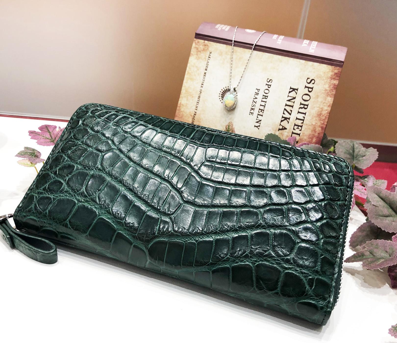 緑色の財布。